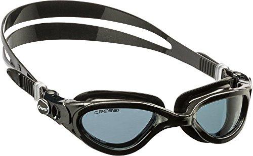 Cressi Flash - Gafas de natación unisex, color negro / gris