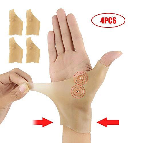 Handgelenkbandage Silikon,Womdee Daumenbandage,Arthrose Handschuhe StüTzklammer Mit Daumen-Loch FüR Handarthritis-Schmerzlinderung,Computer Eingeben,Unisex,2 Paar
