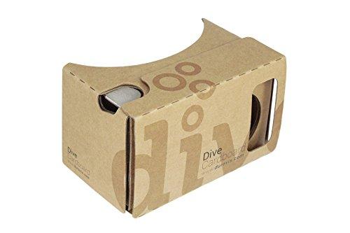 Durovis Dive Cardboard 6 - Braun - Virtual Reality Headset Inspired by Google Cardboard V2 - für...