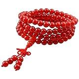 KYEYGWO 108 Gebet Mala Perlen Armband für Damen Herren, 6mm Tibetisch-buddhistischen Heilstein Halskette...