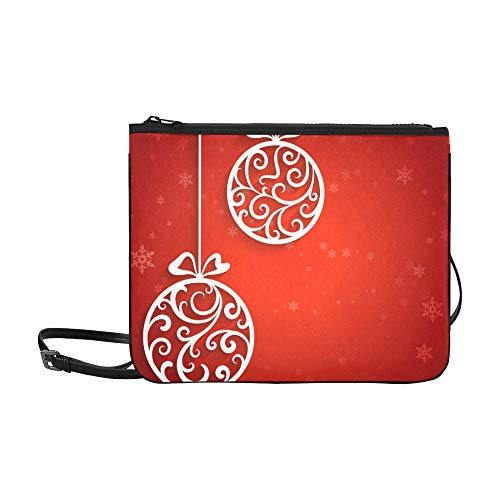 WOCNEMP Wirbelnde Ornamente und Bälle Muster benutzerdefinierte hochwertige Nylon dünne Clutch-Tasche Umhängetasche Umhängetasche