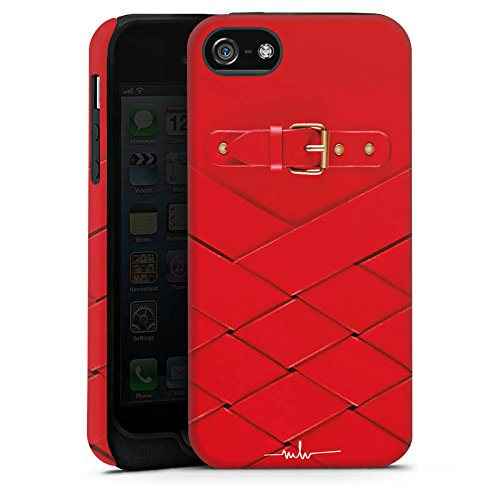 Apple iPhone 8 Tasche Hülle Flip Case Schnalle Ruby Fashion Mode Tough Case matt