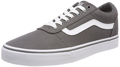 Vans Herren Ward Canvas' Sneakers, Grau Pewter/White 4wv, 44.5 EU Skateboarding Schuhe Sneakers