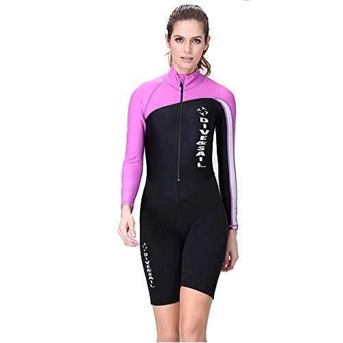 Ein Point Shorty Neoprenanzug Neopren Tauchen passt langen Ärmeln Spring Suit Herren/Frauen Gr. L, Blau - women's purple (Mm Neoprenanzug 1,5 Shorty)