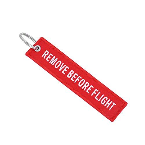 Quite Antes del Vuelo Llavero de Bordado Llavero dominante Buscador de automóviles para aviación Etiqueta Llavero Regalo de pequeñas Empresas