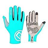 VelvxKl Finger Uomo Donna Completa Guanto da Ciclista Traspirante Caldo Sport della Bici della Bicicletta Mittens Light Blue S