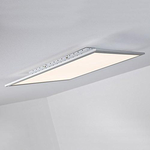 LED Panel 42W Deckenleuchte, 60 x 60 cm eckig, inkl. Fernbedienung dimmbar, 3.310 Lumen, dimmbar, 2700-6500K, Metall / Kunststoff, alu / weiß -