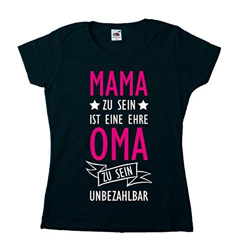 e Ehre, Oma zu sein, ist unbezahlbar Girly Large Schwarz (Sophia-der Erste Geburtstag)