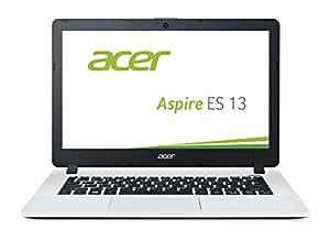 Acer Aspire ES 13 (ES1-331-P3ZE) 33,78cm (13,3 Zoll HD) Notebook (Intel Pentium Quad Core Processor N3700, 4GB RAM, 500GB HDD, Intel HD Graphics, Win 10 Home) weiß