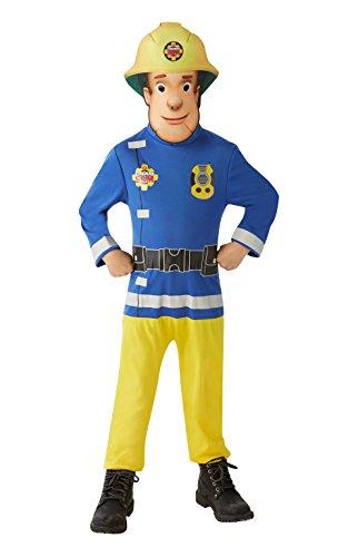 Sam El Bombero - Disfraz Sam El Bombero para niños, talla 3-4 años (Rubie's 620779-S)