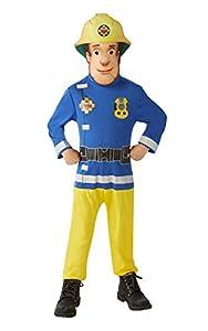 Sam El Bombero - Disfraz Sam El Bombero para niños, talla 5-7 años (Rubie