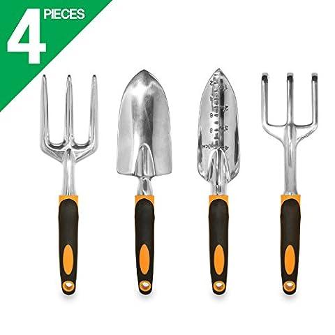 Gardenhome Premium ergonomique Outil de jardinage Lot de 4outils
