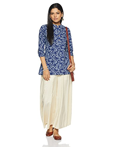 Myx Women's Straight Cotton Kurta (AW16VALST01A_Blue_Medium)