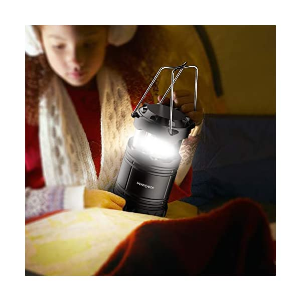 [2 PACK] Camping Lantern- Sahara Sailor Ultra Bright LED Lantern- Collapses - Suitable for: Hiking, Camping, Emergencies, Hurricanes, Outages - Super Bright - Lightweight - Water Resistant 5