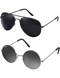 ee09a021015 Silver Kartz Premium look exclusive sunglasses combo collection cm114