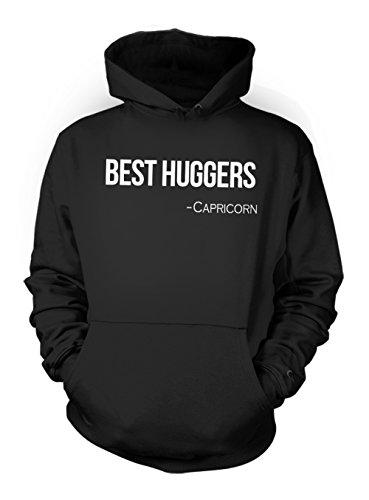 Best Huggers - Capricorn Zodiac Sign Zitat Herren Kapuzenpullover Hoodie Sweatshirt Schwarz XX-Large -