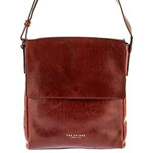 The BRIDGE Leather Bag genuine Italian Messenger bag brown SFODERATA LUXE UOMO 05402101/14