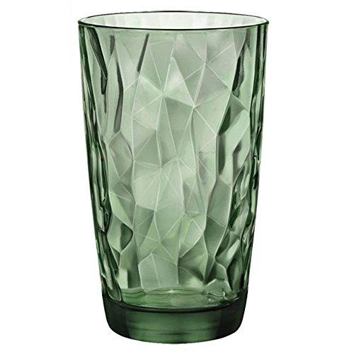 Bormioli Rocco 1333714Diamond Cool vasos (Cristal, 47cl, verde