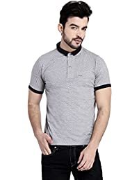 GLASGOW Grey Slim Fit Cotton Rich Polo T Shirt