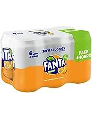 Fanta - Zero Naranja, Refresco con gas, Pack  6 X 330ml