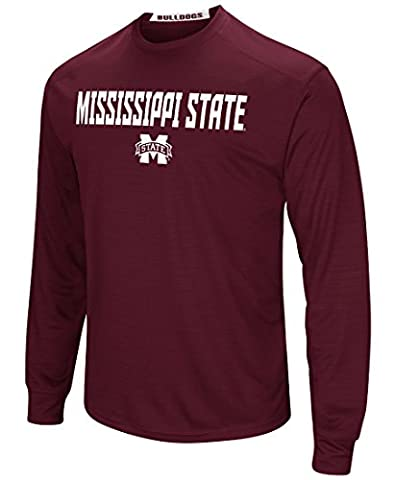 Mississippi State Bulldogs NCAA Power Set Men's Long Sleeve Performance T-Shirt