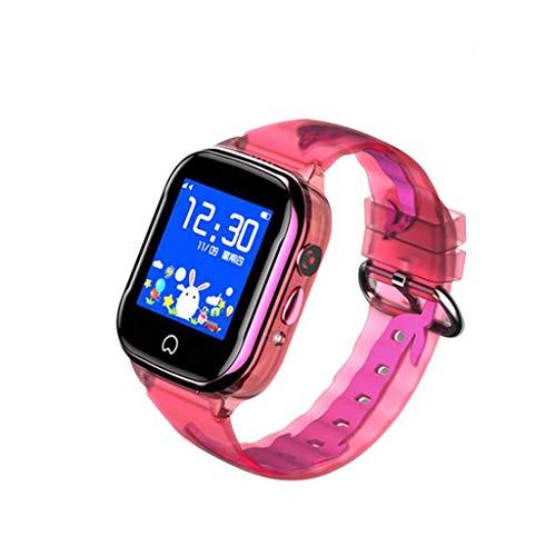 MDMMBB Wasserdichtes intelligentes Uhr-Telefon for Jungen-Kind, Kinderuhr GPS-Verfolger, Kinderintelligente Telefon-Uhr, die Uhr for Kinder mit Kamerataschenlampen-Pedometer benennt (Color : Pink) (Kinder Für Uhr-verfolger)