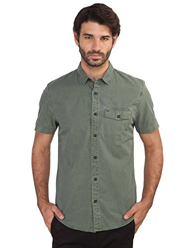 Calvin Klein Men's Casual Shirt (701549567817_J302311_X-Large_Olive Green)  available at amazon for Rs.3444