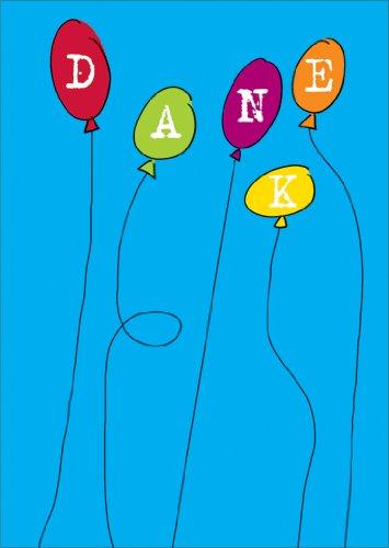 Helga Bühler Im 5er Set: Fröhliche Dankeskarte. Verschicken Sie einen bunten Strauß an Dankes Luftballons.