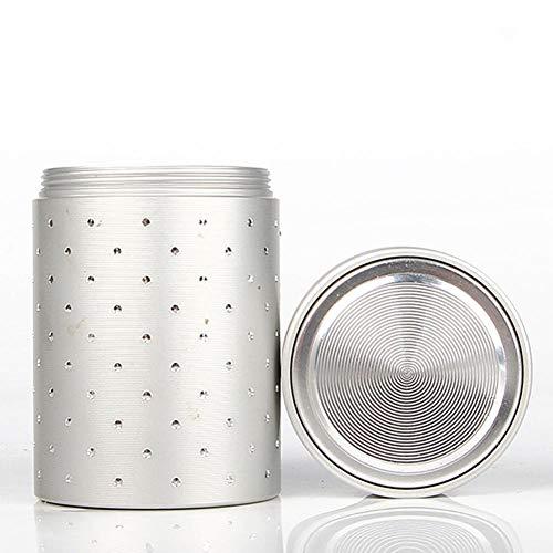 perfecthome Tragbare kleine Mini-Tee-Dose, Sealed Tragbare Tee-Kaffee-Dose Aluminium Glas Teedose Aufbewahrungsbox Brustkasten Für Tee Hobby Vater Reise -