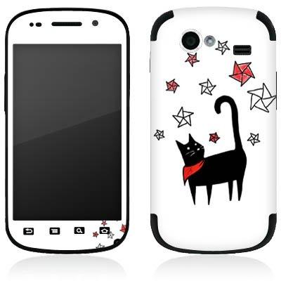 DeinDesign Google Nexus S I9023 Folie Skin Sticker aus Vinyl-Folie Aufkleber Katze Comic Style Sterne