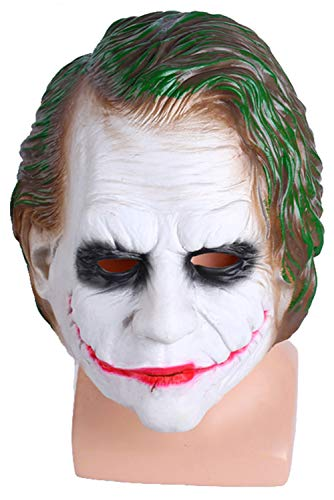 Erwachsene Männer Ritter Horror Clown Latex Maske Creepy Scary Halloween Karneval Fasching Cosplay Party Requisiten