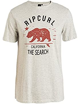 Rip Curl Search In California Tee - Camiseta para hombre, color blanco, talla L