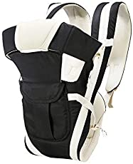 Toyboy 4-In-1 Baby Carrier With Comfortable Head Support - Black