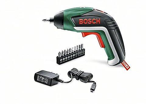 Bosch DIY Akku-Schrauber IXO 5. Generation, 10 Schrauberbits, USB-Ladegerät, Metalldose