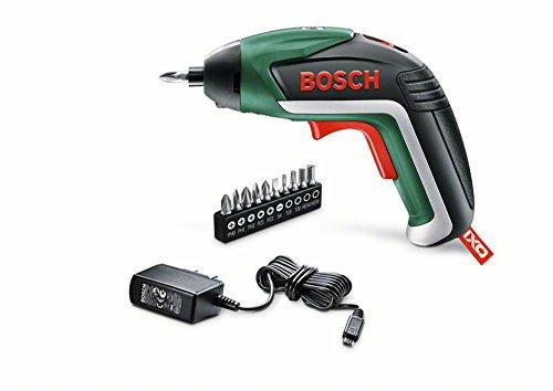 Bosch Akkuschrauber IXO (5. Generation, 10 Bits, USB Ladegerät, Dose, 3,6 Volt, 1,...