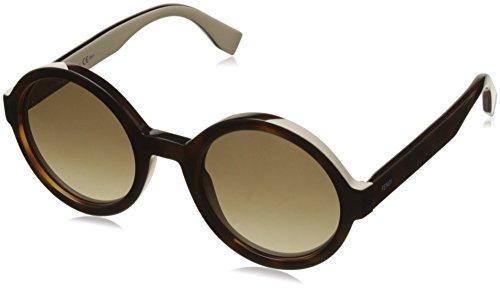 Fendi Damen Sonnenbrille Ff 0120/S Ha Schwarz (Havana Cream), 51 Preisvergleich