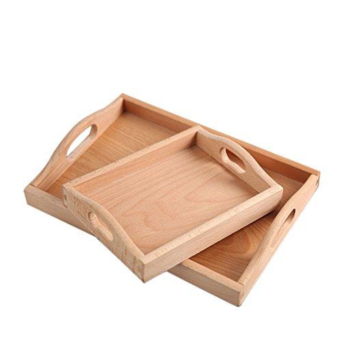 WCYPLATE Pallet Rectangle Für Umweltfreundliche Und Langlebige High-EndEinrichtungsgegenstände Wie Tee Und Kaffee Oder Lebensmittel Bambus Serviertablett (Bio-perfekte Leben Essen)
