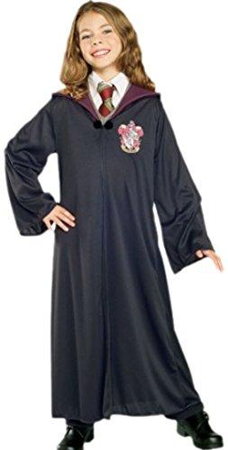 (erdbeerloft - Mädchen Gryffindor Harry Potter Robe Karnevalskostüm , 116, Schwarz)