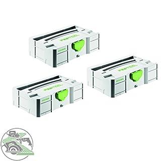 Festool Mini Systainer - T-LOC SYS MINI TL Stapelbox - Werkzeugkoffer - Nr. 499622 - 3 Stück