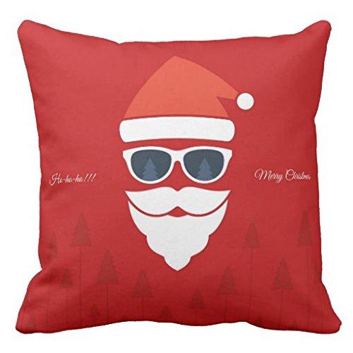 Love mit ihr Einzigartiges Weihnachts (25) Cool Santa mit Sonnenbrille Design Custom Reißverschluss Kissenbezüge Kissen Kissen cover18