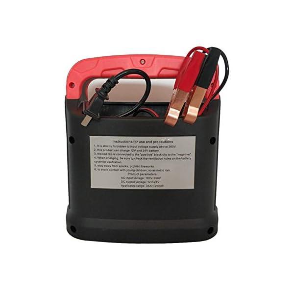 auspilybiber Cargador de batería de Coche Completamente automático de 12V / 24V, reparación Inteligente de Pulso Jump Starter Booster Cargador de batería Cargador de Motocicleta de camión Improved