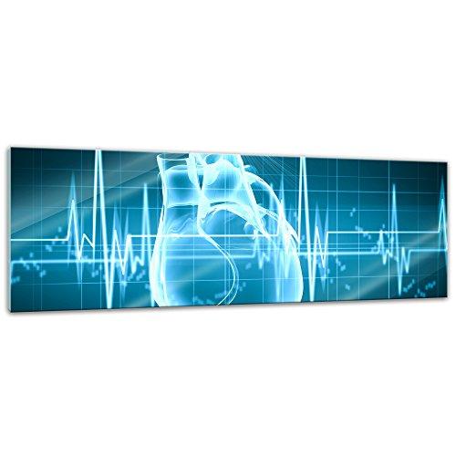 Blut-diagramm (Glasbild - Abstrakte Kunst XXIV - 120x40 cm - Deko Glas - Wandbild aus Glas - Bild auf Glas - Moderne Glasbilder - Glasfoto - Echtglas - kein Acryl - Handmade)