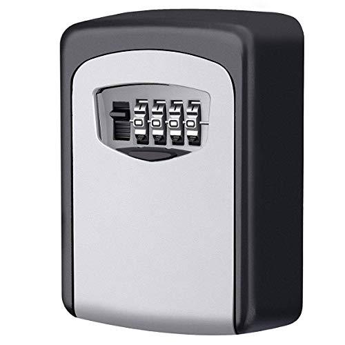 Caja fuerte para llaves, Candado de Seguridad con Combinación 4 dígitos,Caja de Seguridad para Llaves...