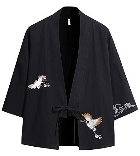 Kimono,Hombre Manga Larga Estilo Chino Japonesa Hanfu