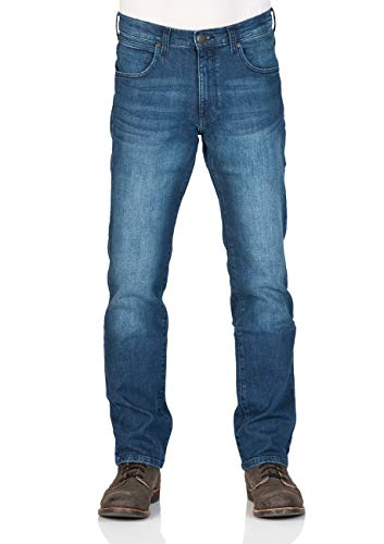 Wrangler Herren Jeans Arizona Regular Fit - Blue Burn - Cross Blue, Größe:W 33 L 32, Farbe:Cross Blue (W12OHY32G)