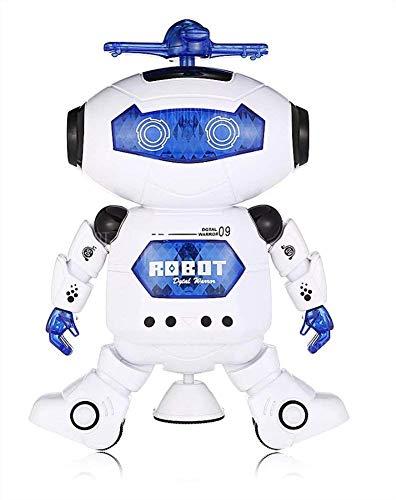 Astronaut Tanzen Roboter Spielzeug 360 Grad Drehen mit Dynamischen Rhythm Musical Elektronische Walking Tanzen Bunte LED Lichter Smart Roboter - Walking-spielzeug-roboter