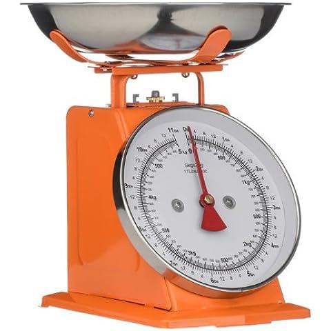 Premier Housewares Bilancia da Cucina, 5 kg, Arancione e Acciaio