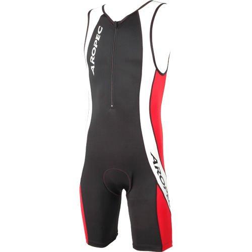 Combinaison de triathlon Aropec pour hommes - Rouge et Noir - S