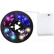 cuzile batería Alimentado por luces RGB Strip 100 cm 33 in. + Batería Caja +