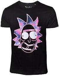 Rick & Morty - Neon Rick Camiseta - Negro